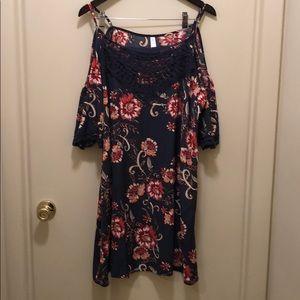 Floral plus sized dress